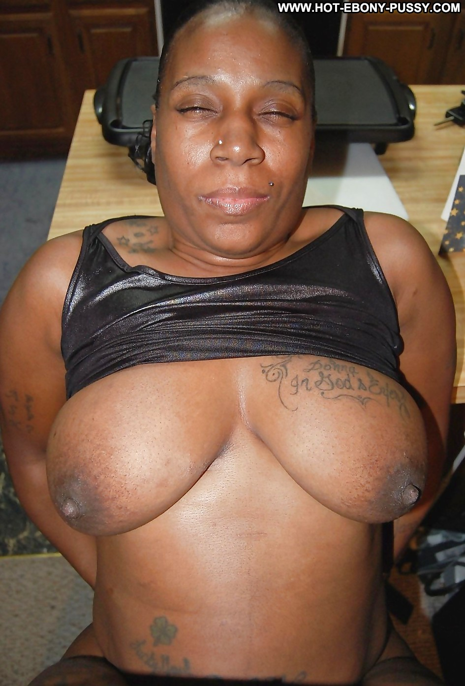 Busty beautiful ebony milf
